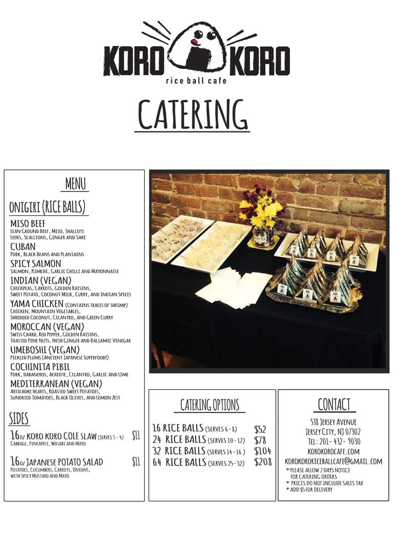 Print Catering Menu